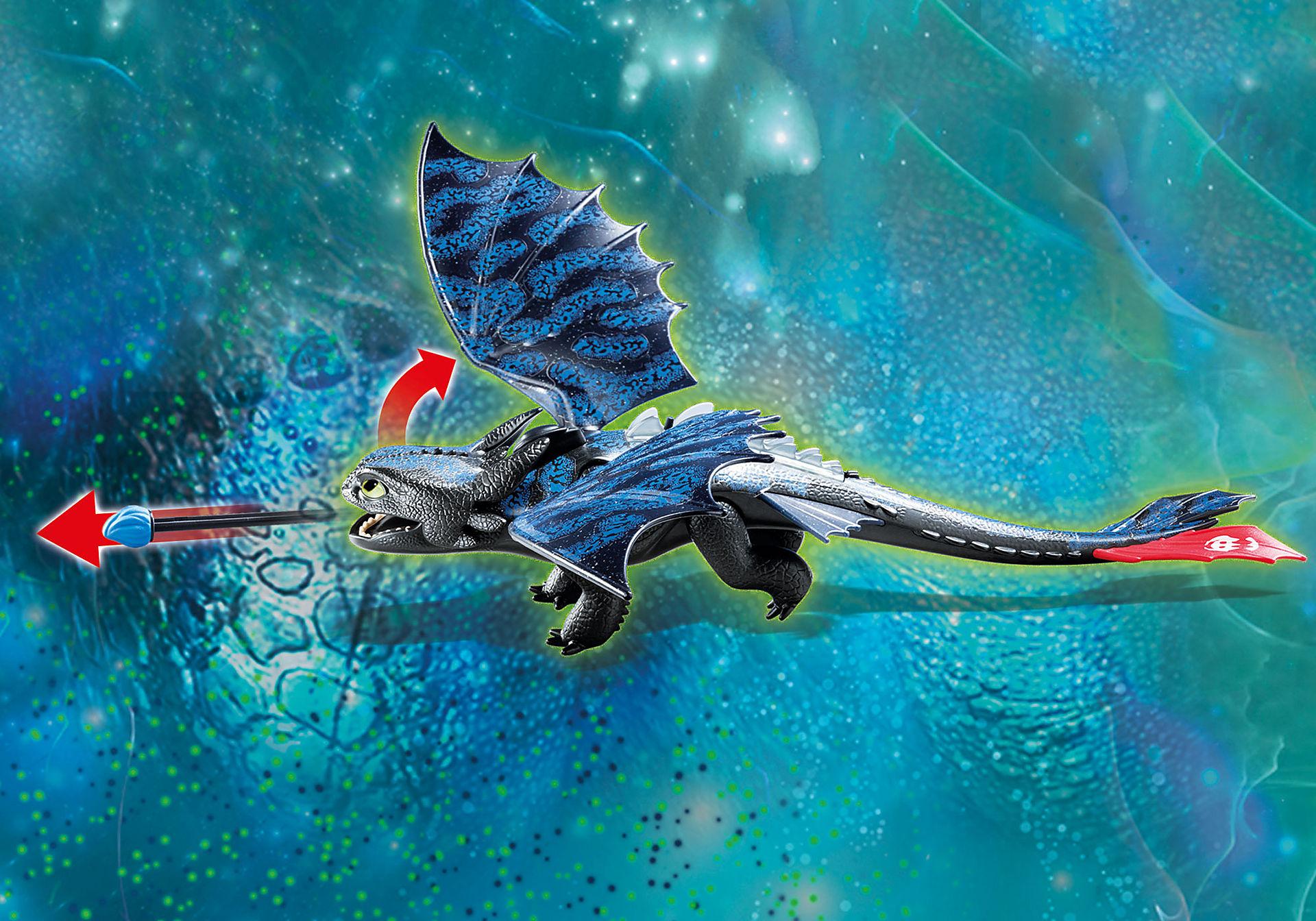 70037 Krokmou et Harold avec un bébé dragon zoom image4