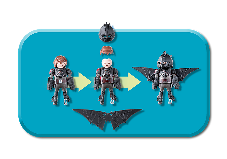 70037 Hiccup and Toothless Playset detail image 6