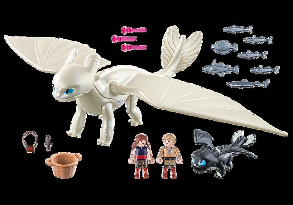70038 Furia Diurna y bebé dragón con niños detail image 3