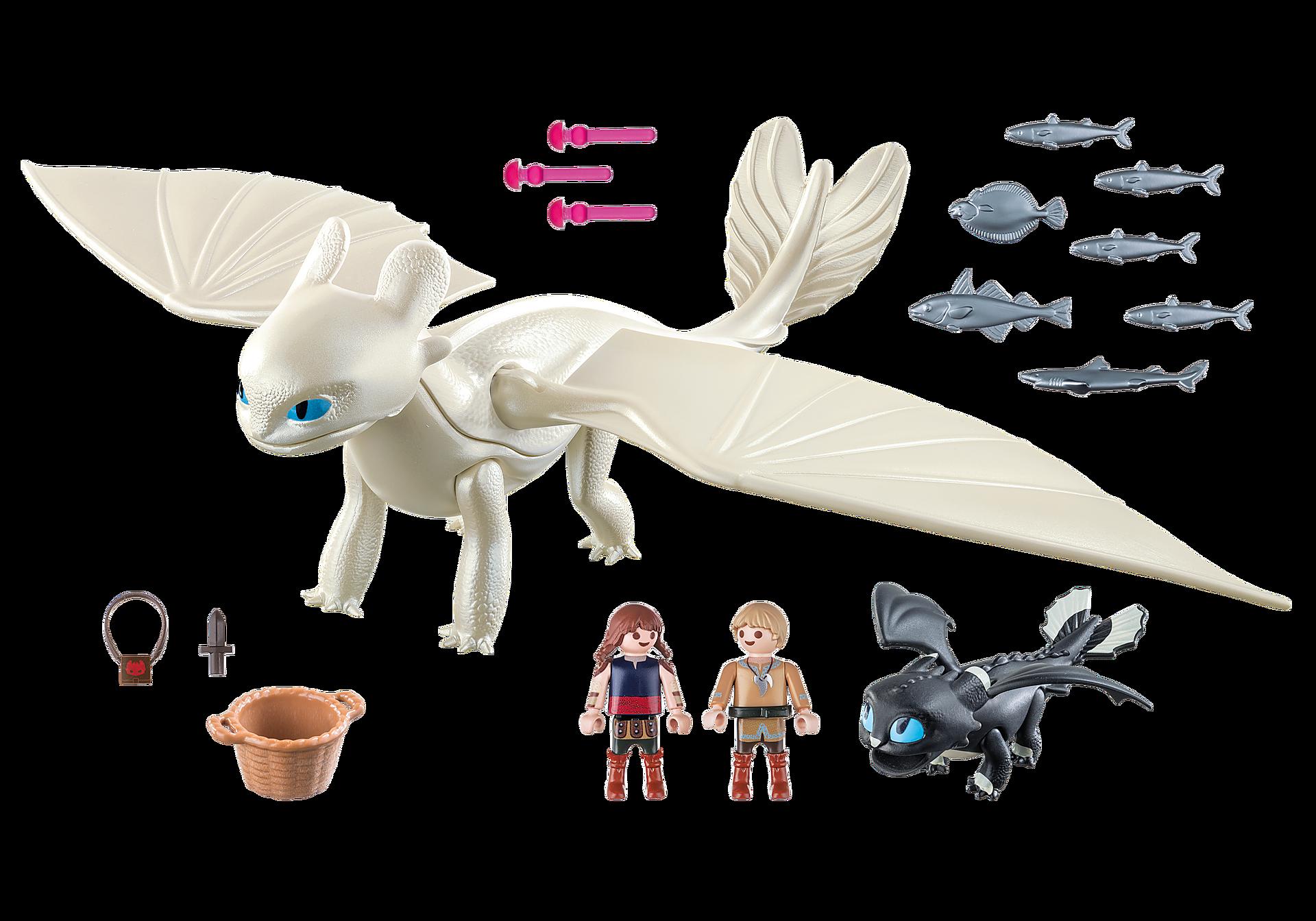 70038 Furie Éclair et bébé dragon avec les enfants zoom image3