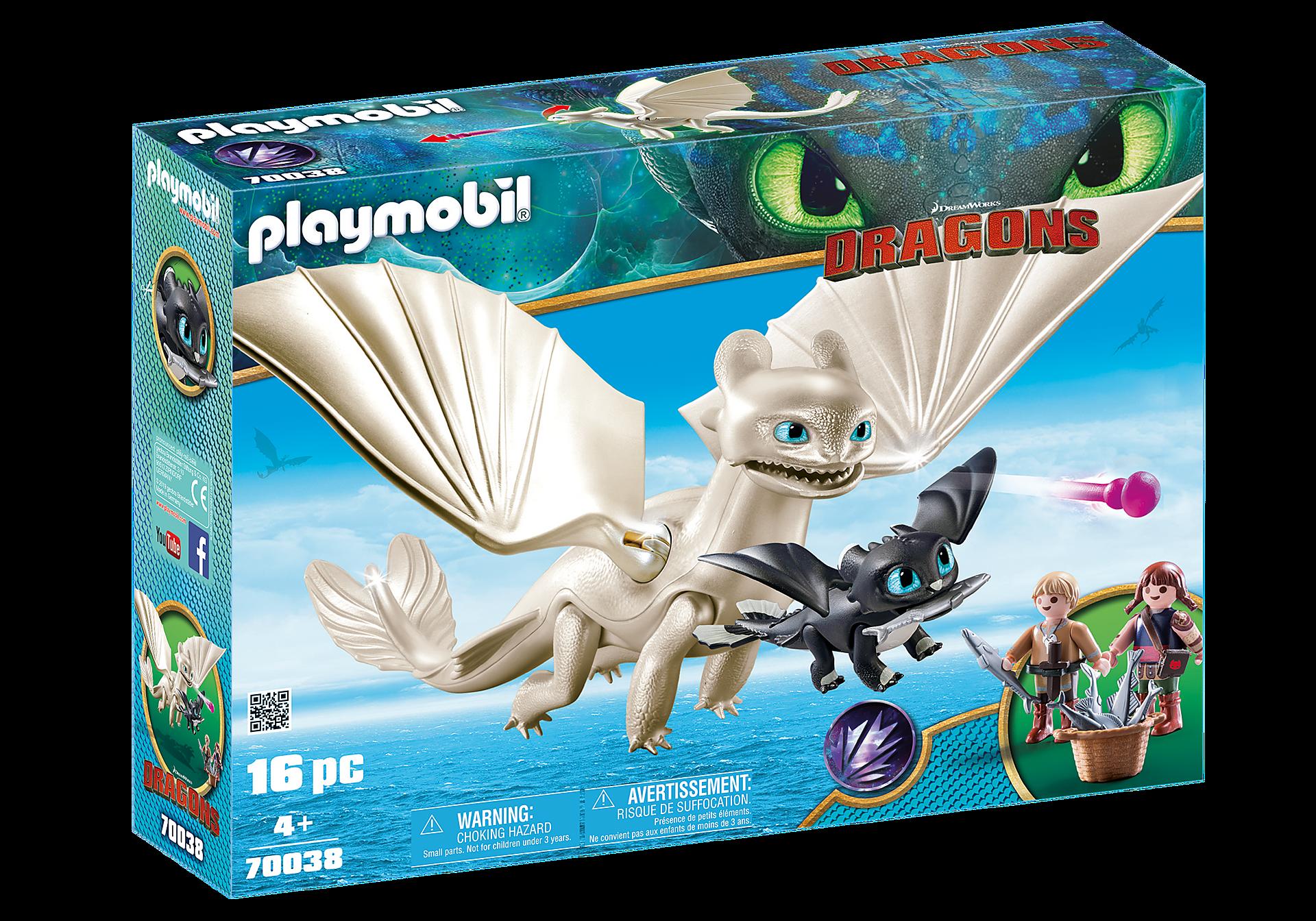 70038 Furie Éclair et bébé dragon avec les enfants zoom image2