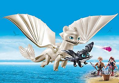 70038 Furia Chiara con Baby Dragon e bambini
