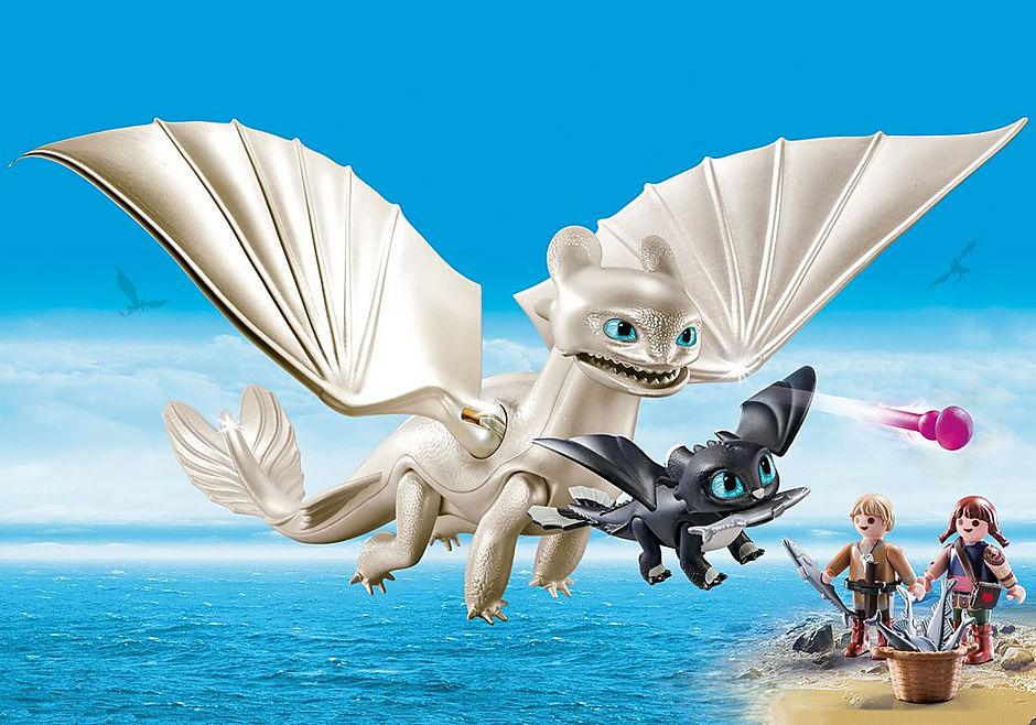 Furie éclair Et Bébé Dragon Avec Les Enfants 70038