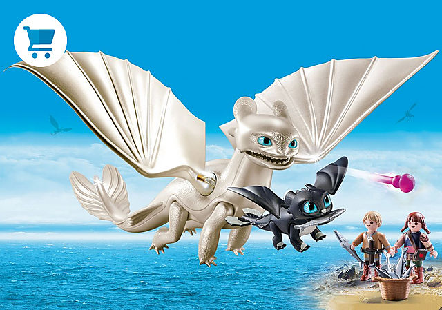 70038_product_detail/Light Fury with Baby Dragon and Children