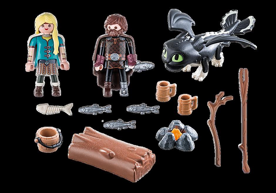70040 Hiccup e Astrid com dragões bebés detail image 3
