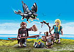 Hiccup and Astrid with Baby Dragon