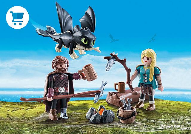 70040_product_detail/Hiccup e Astrid com Dragão Bebê