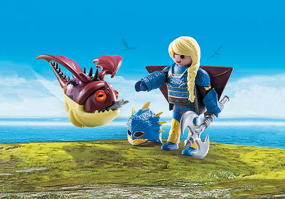 70041 Astrid con tuta da volo e Gargarozzone detail image 1