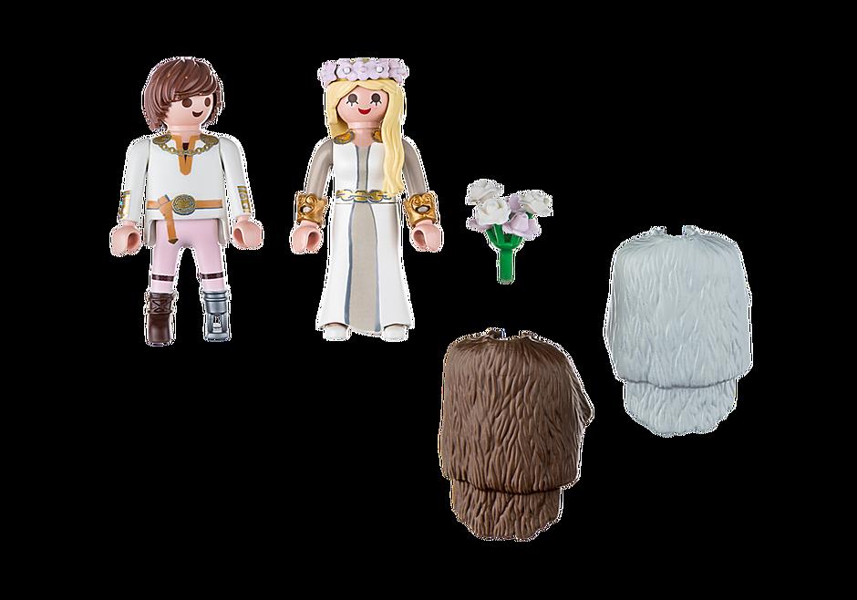 70045 Astrid et Harold en tenue de mariage detail image 3