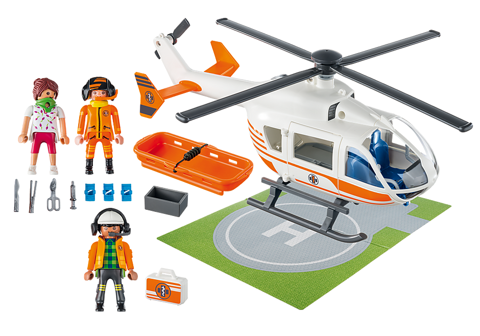 70048 Hélicoptère de secours detail image 3