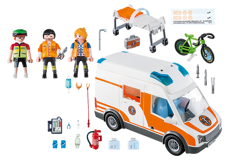 70049 Ambulance en ambulanciers detail image 3