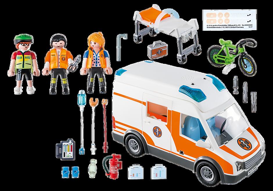 70049 Ambulance with Flashing Lights detail image 3