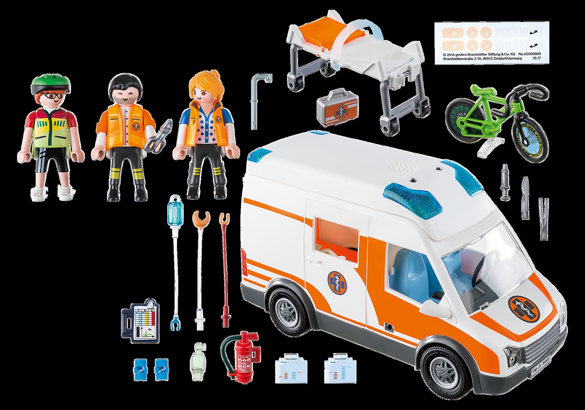 70049 Ambulanza con luci lampeggianti zoom image3