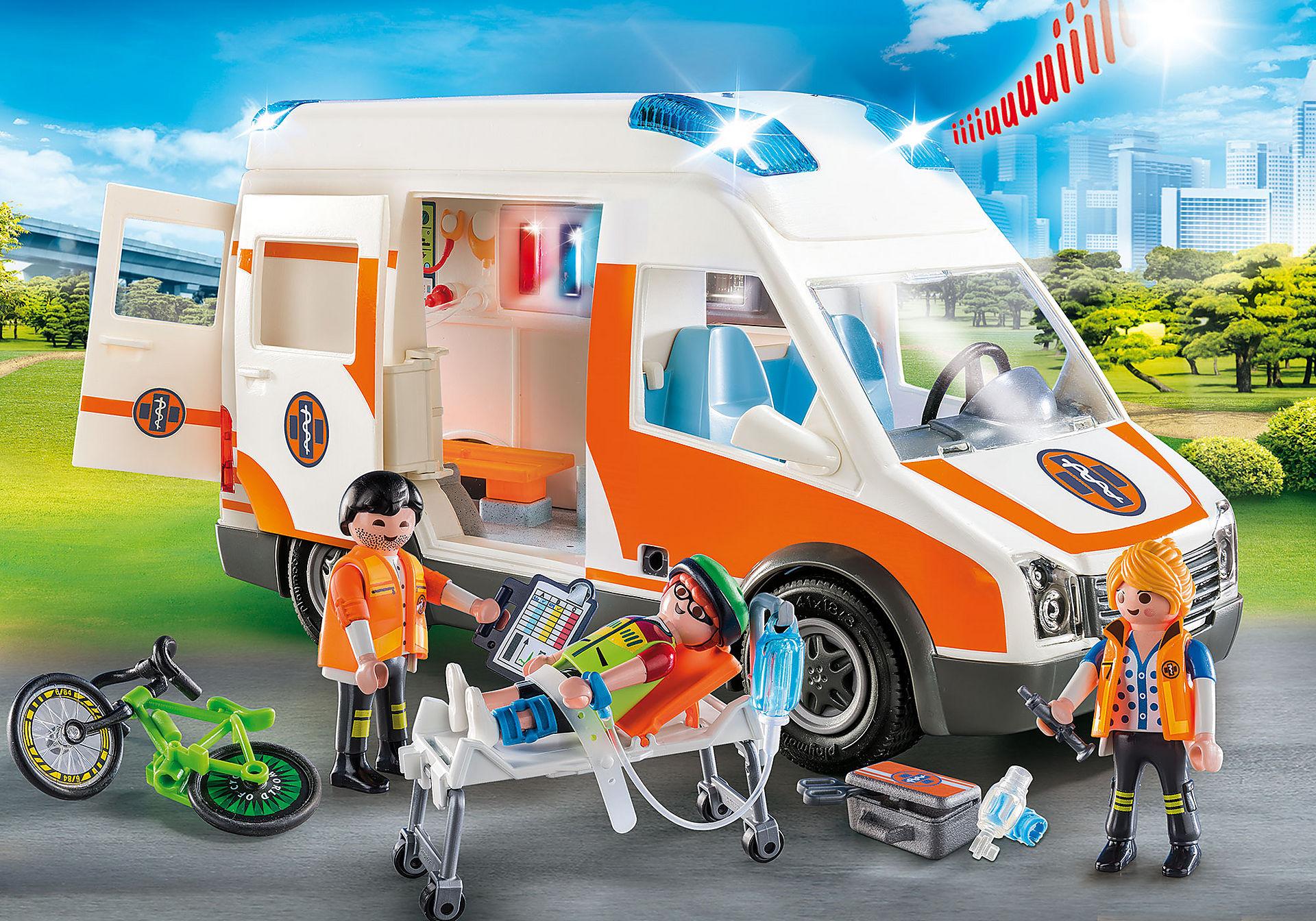70049 Ambulanza con luci lampeggianti zoom image1