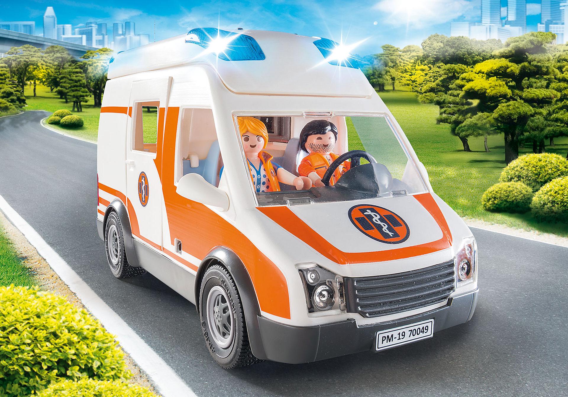 70049 Ambulanza con luci lampeggianti zoom image4