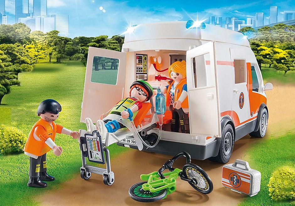 70049 Ambulans med blinkande ljus detail image 5