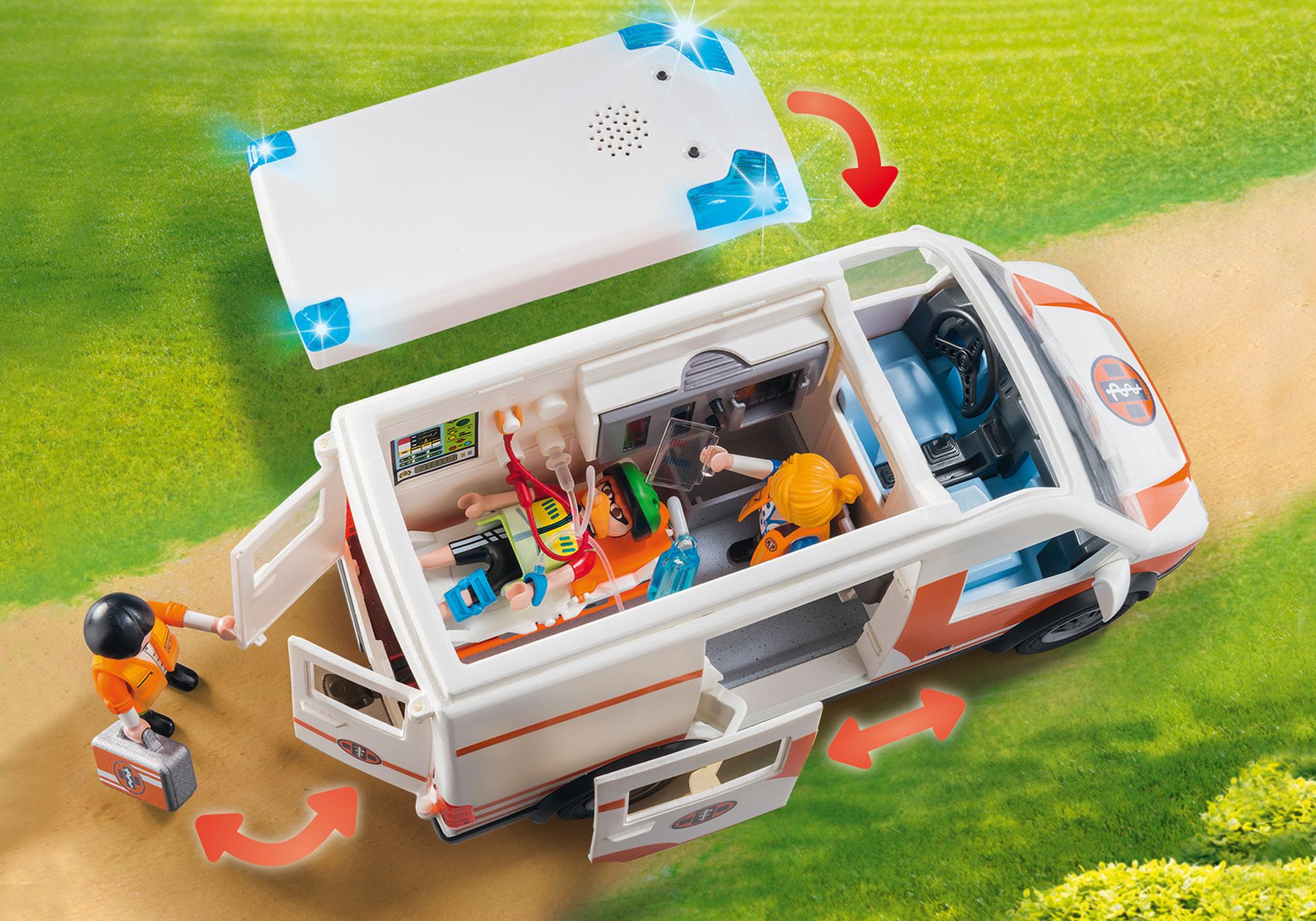 http://media.playmobil.com/i/playmobil/70049_product_extra3/Ambulance en ambulanciers