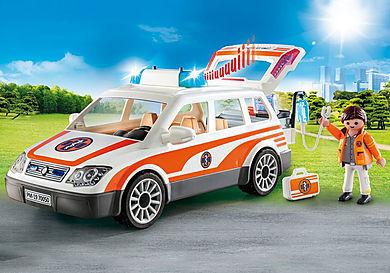 70050 Carro Médico de Emergência com luz e som