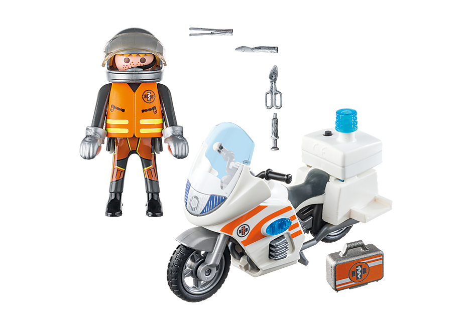 70051 Moto de emergência médica com luz intermitente detail image 3