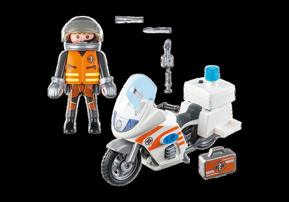 70051 Notarzt-Motorrad mit Blinklicht detail image 3