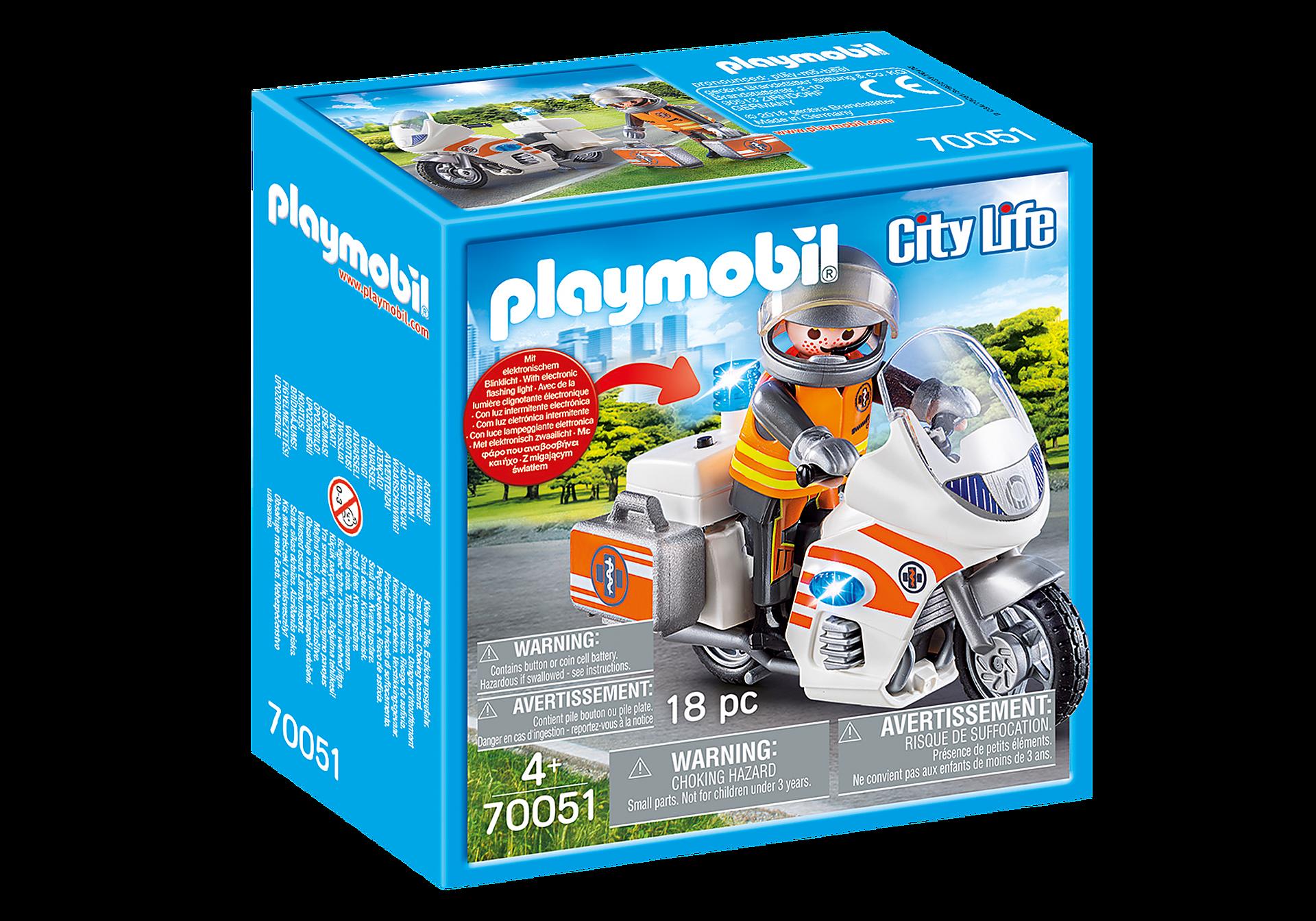 70051 Notarzt-Motorrad mit Blinklicht zoom image2