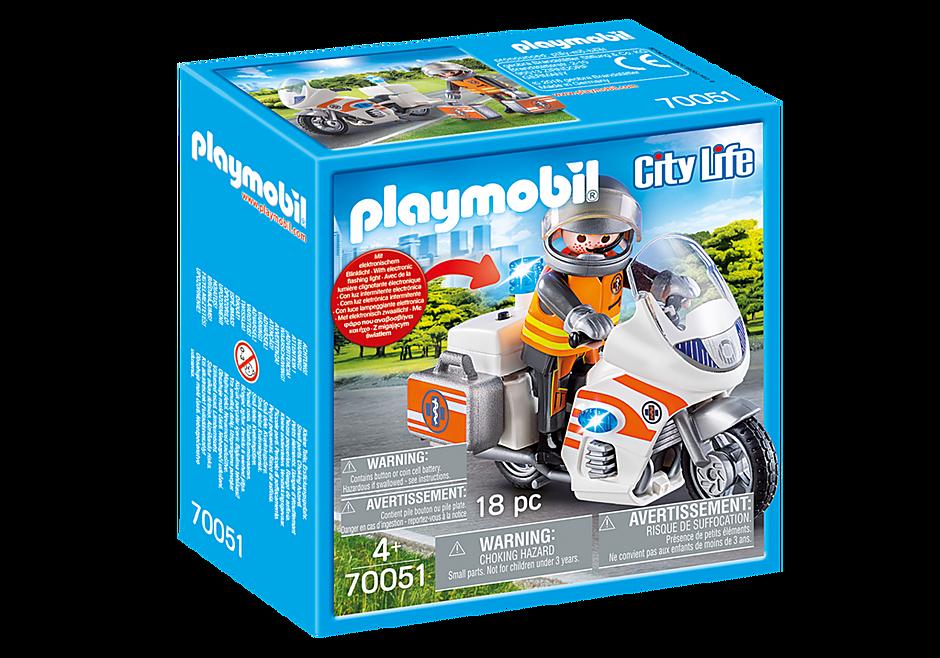 70051 Notarzt-Motorrad mit Blinklicht detail image 2