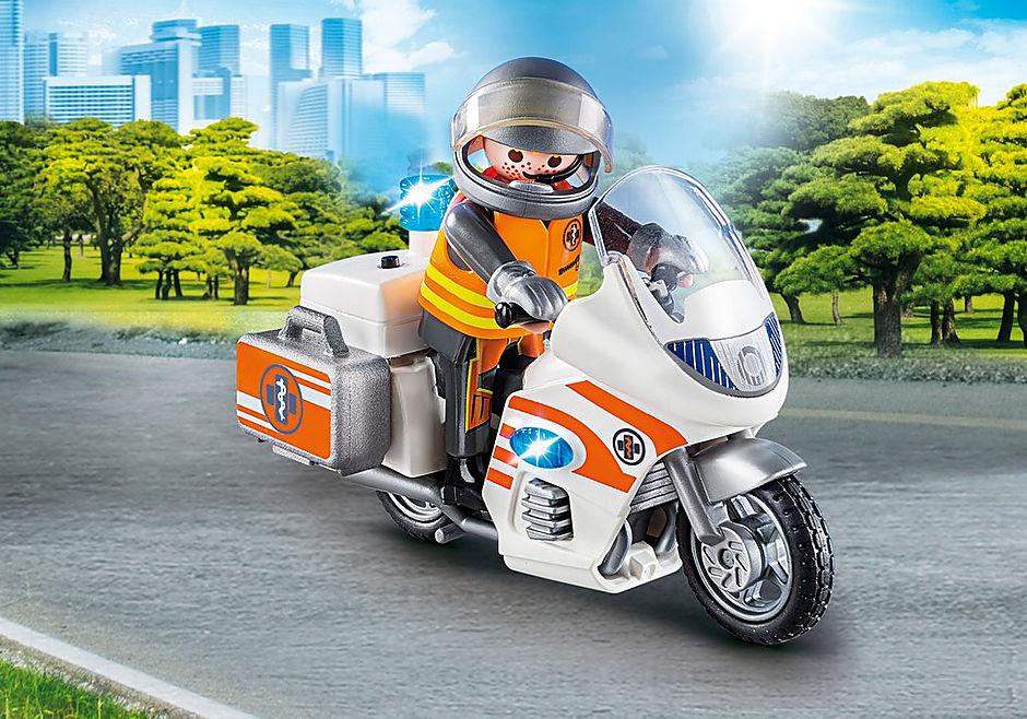 70051 Notarzt-Motorrad mit Blinklicht detail image 1