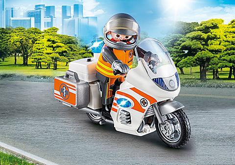 70051 Notarzt-Motorrad mit Blinklicht