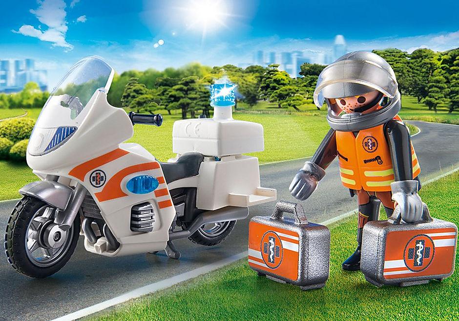70051 Notarzt-Motorrad mit Blinklicht detail image 5