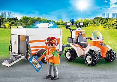 70053 Redningsfirhjulstrækker med trailer