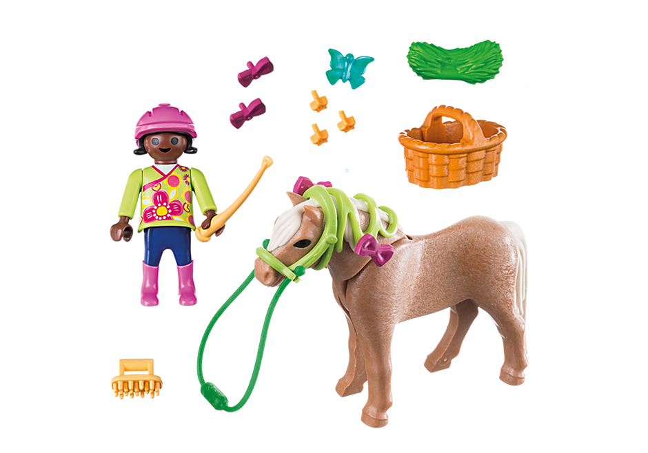 70060 Ragazza con pony detail image 3