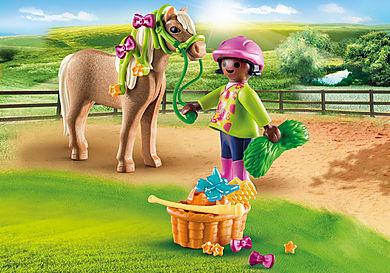 70060 Ragazza con pony