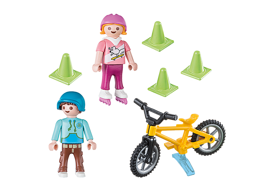70061 Children with Skates and Bike detail image 3