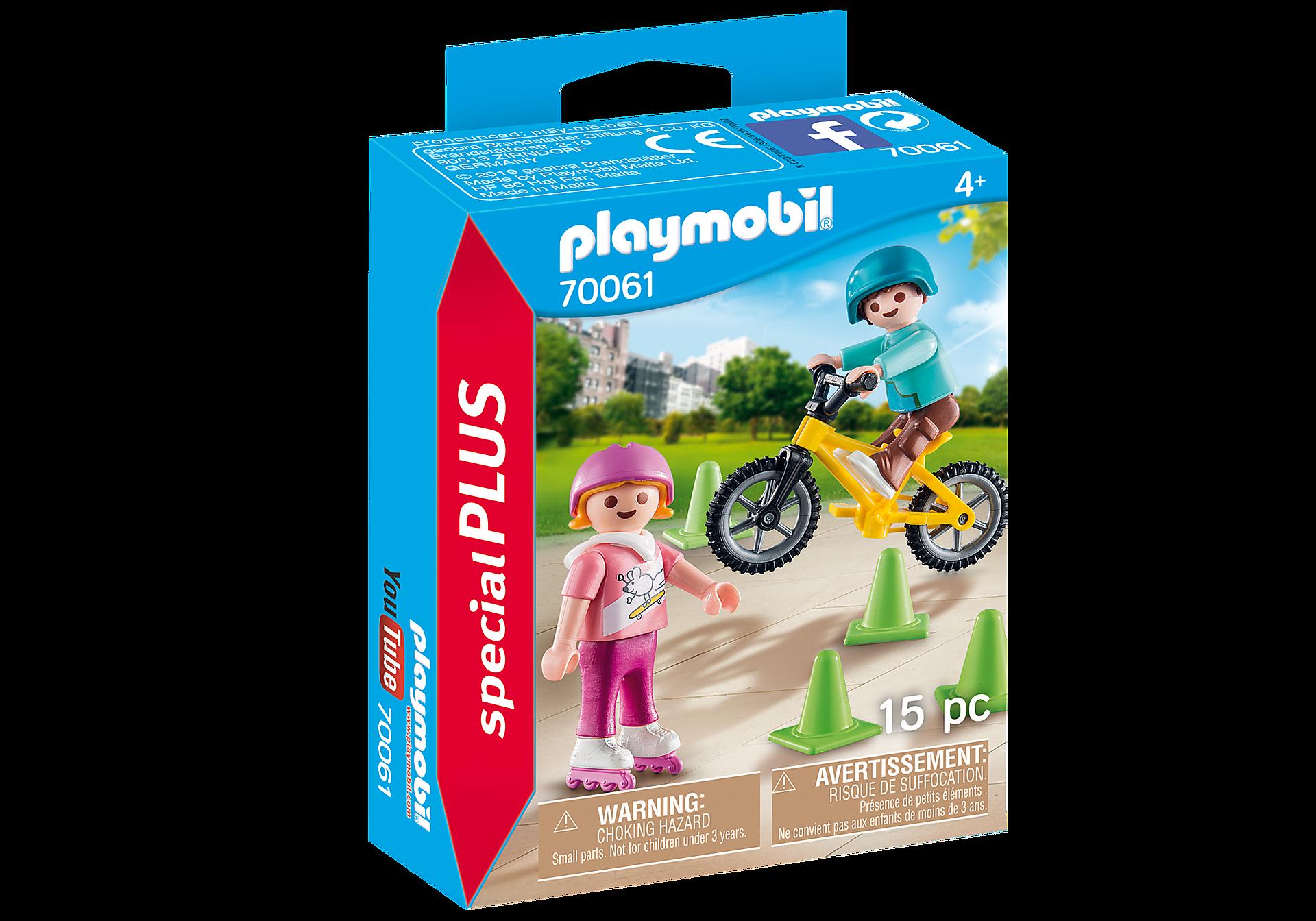 http://media.playmobil.com/i/playmobil/70061_product_box_front/Kinderen met fiets en skates