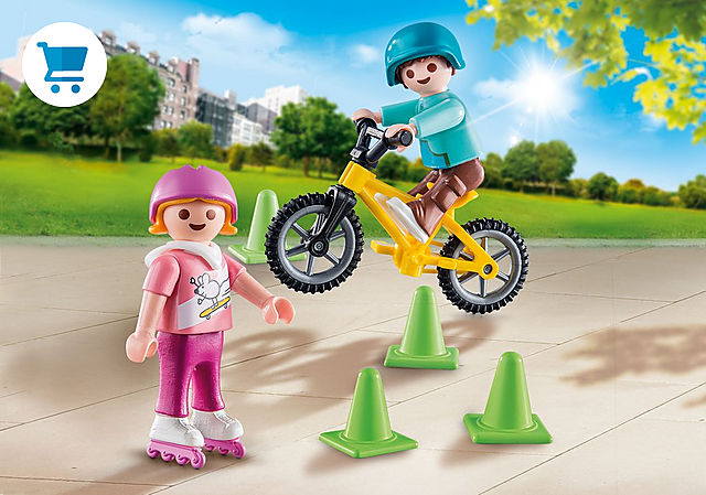 70061_product_detail/Children with skates and bike