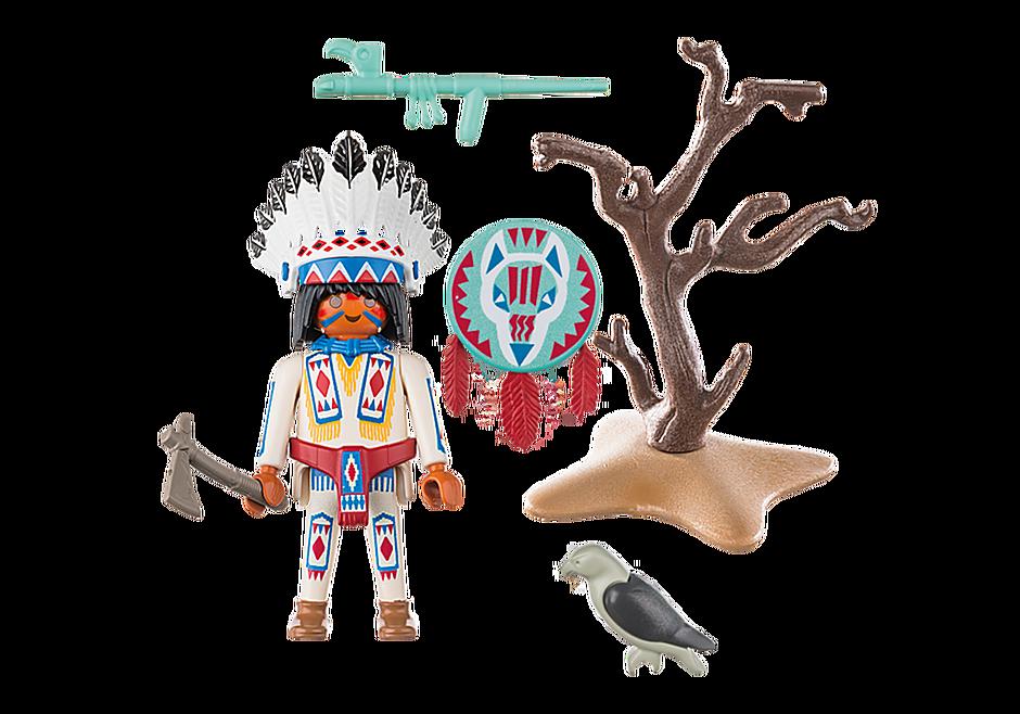 70062 Chef de tribu amérindienne detail image 3