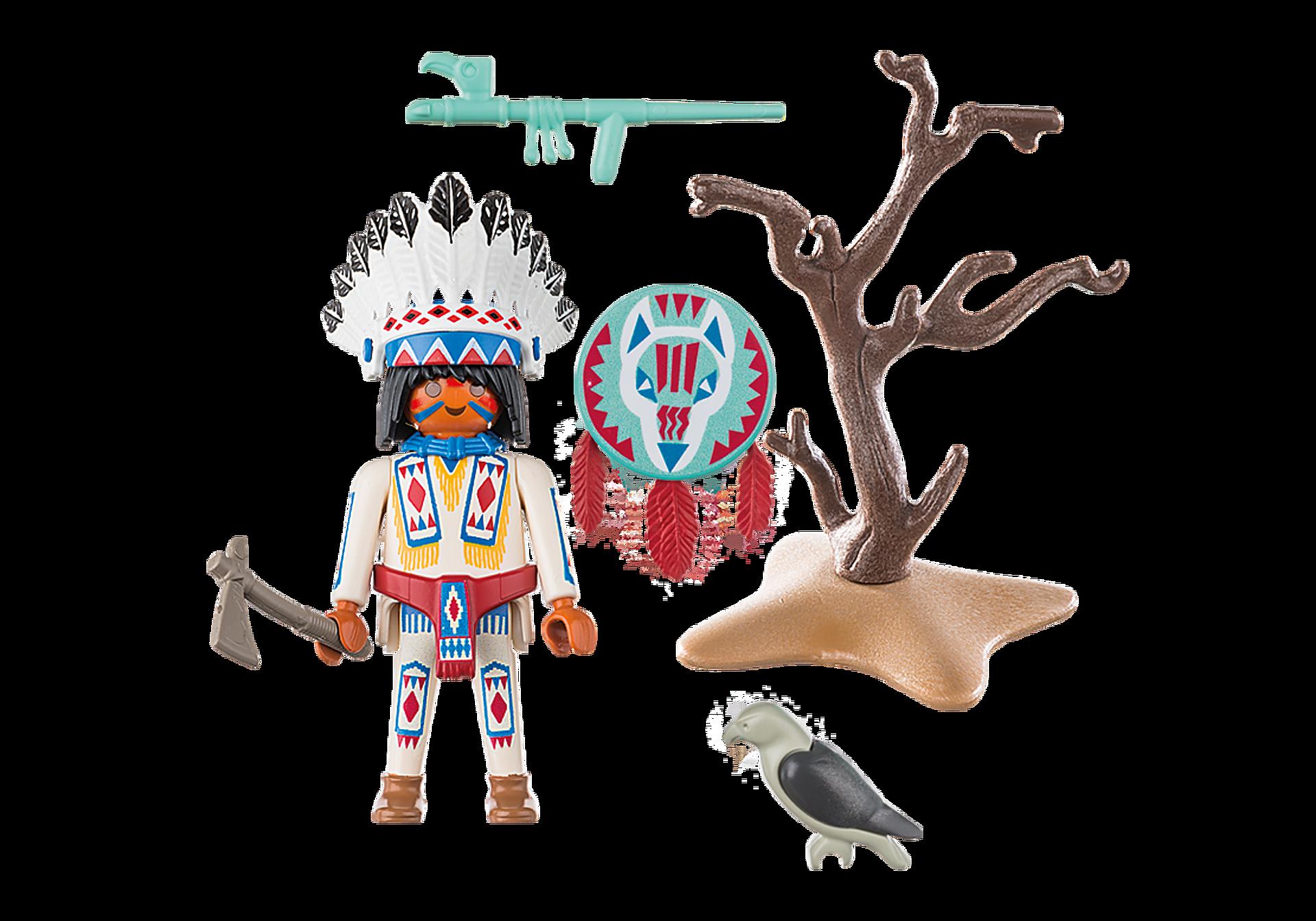 70062 Chef de tribu amérindienne zoom image3