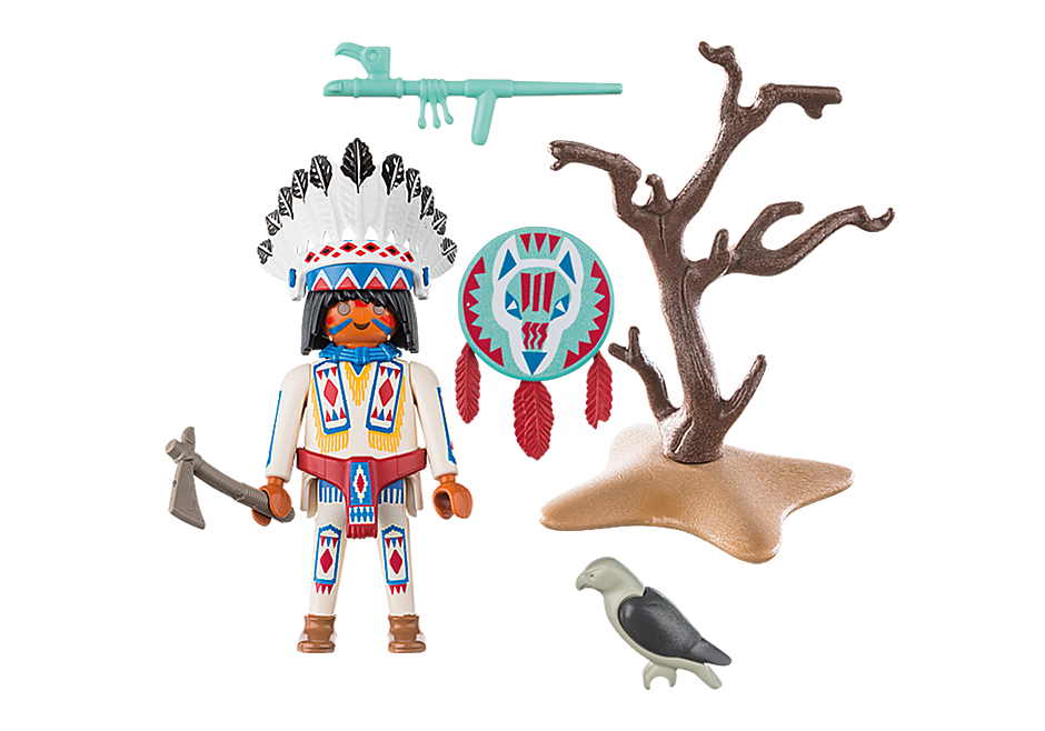 70062 Native American Chief detail image 3