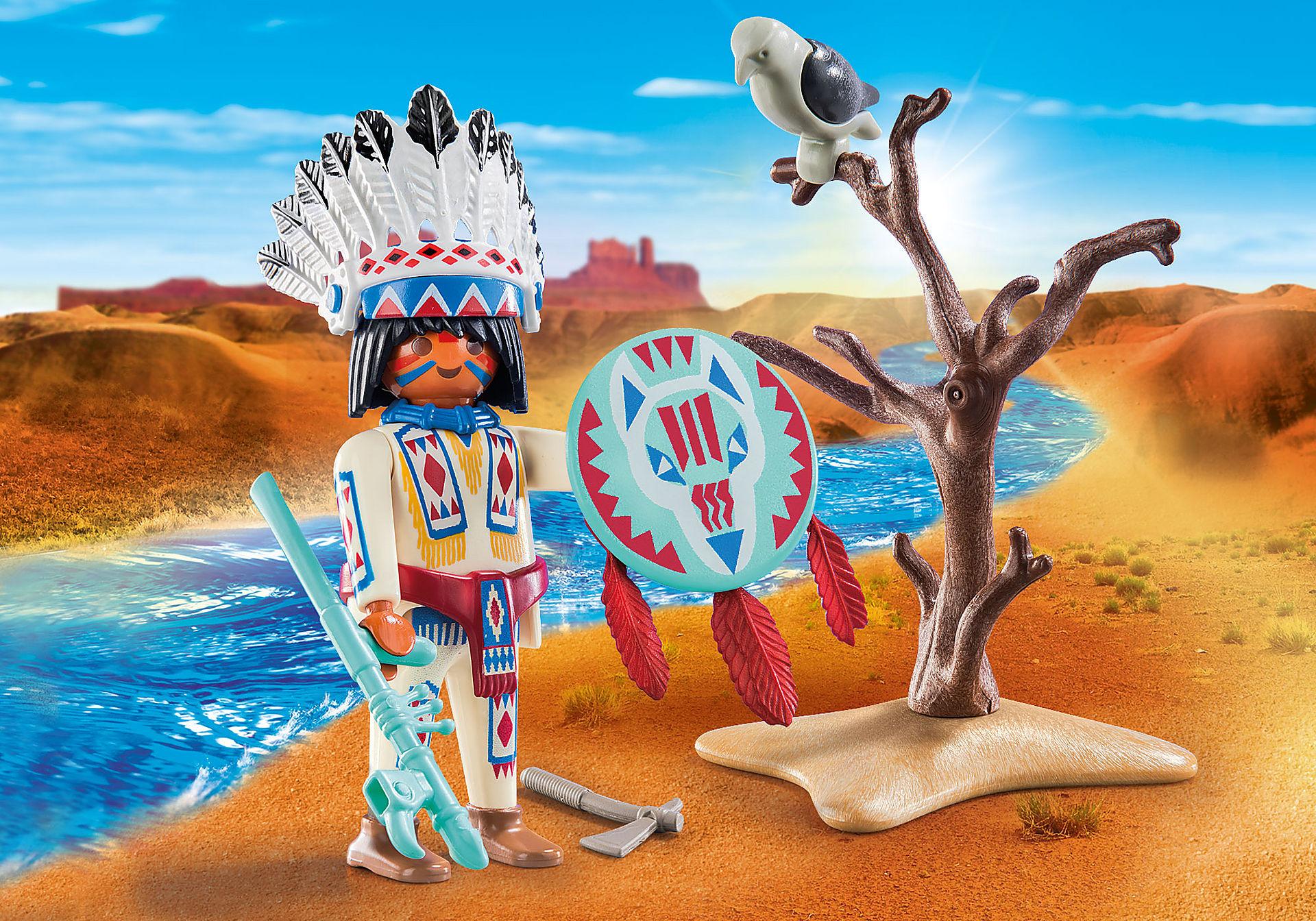 70062 Chef de tribu amérindienne zoom image1