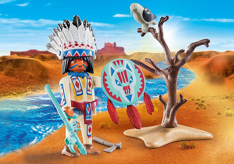 70062 Chef de tribu autochtone detail image 1