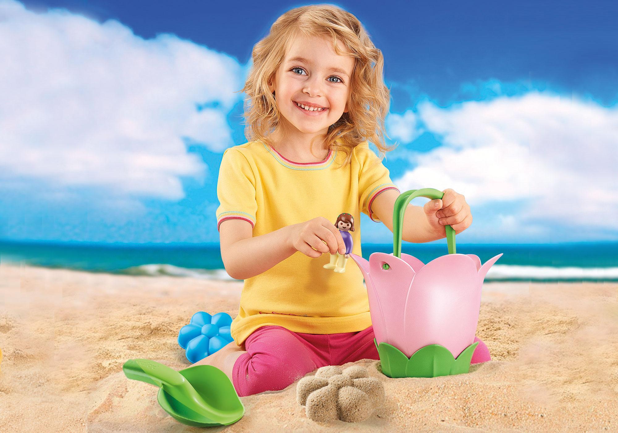 "http://media.playmobil.com/i/playmobil/70065_product_extra3/Sandeimerchen ""Frühlingsblume"""