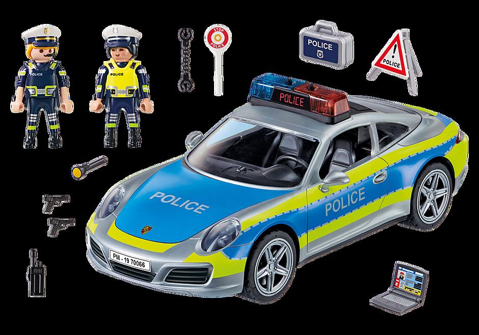 70066 Porsche 911 Carrera 4S Police - White detail image 3