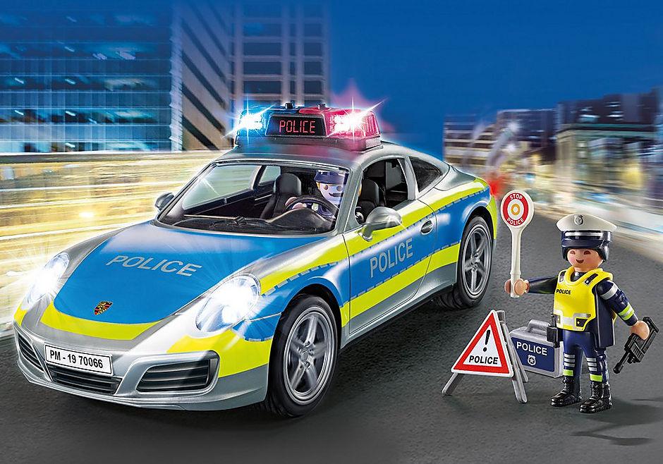 70066 Porsche 911 Carrera 4S Police - White detail image 1