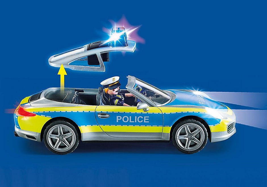 70066 Porsche 911 Carrera 4S Police - White detail image 4