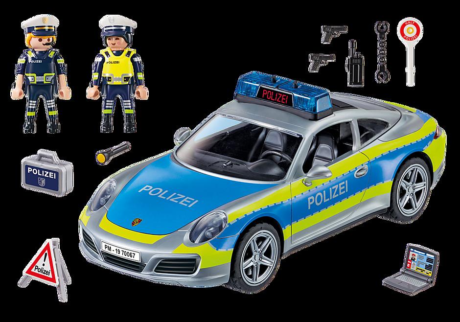 70067 Porsche 911 Carrera 4S Politie - grijs detail image 3