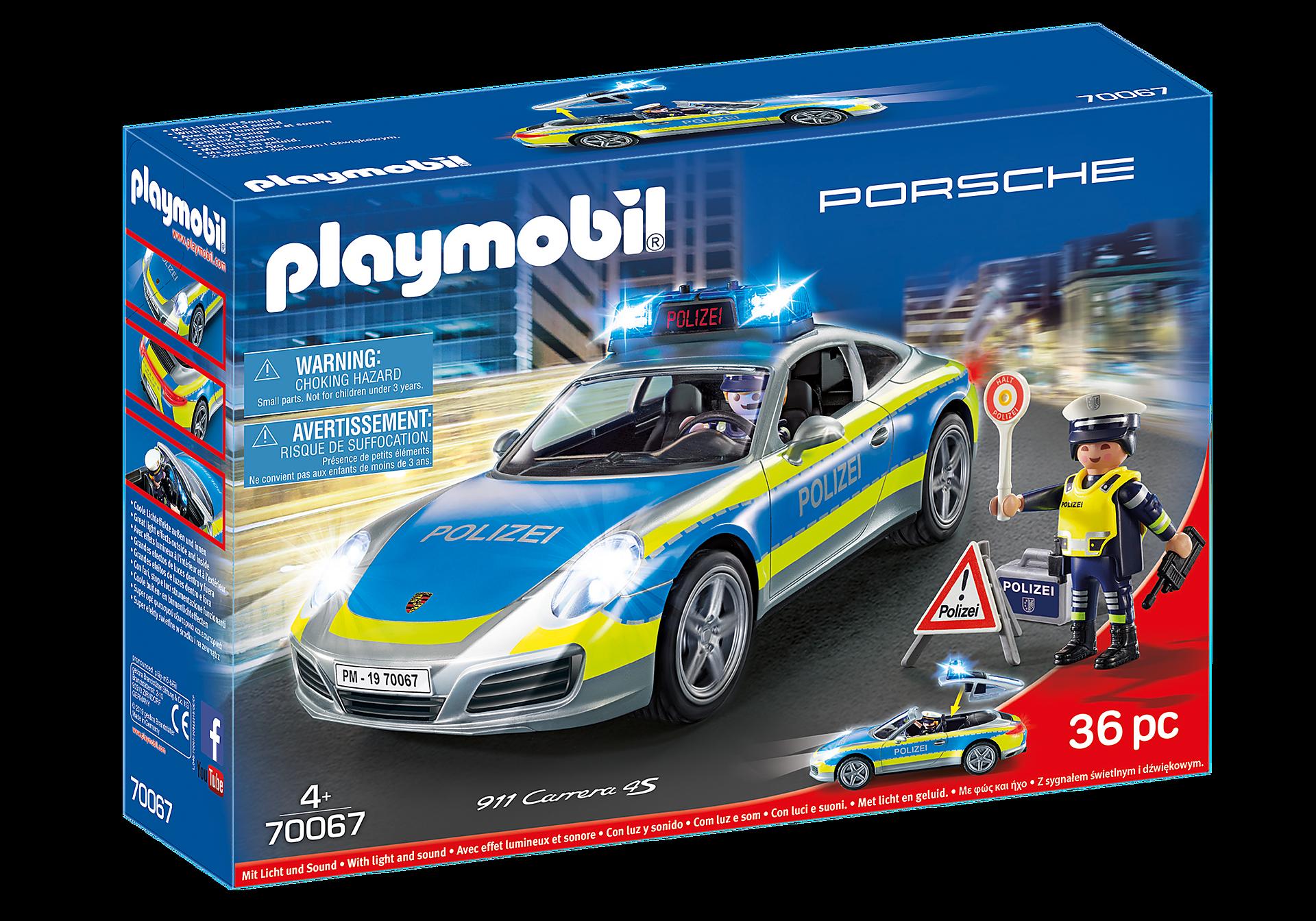 70067 Porsche 911 Carrera 4S Politi- Grå zoom image2