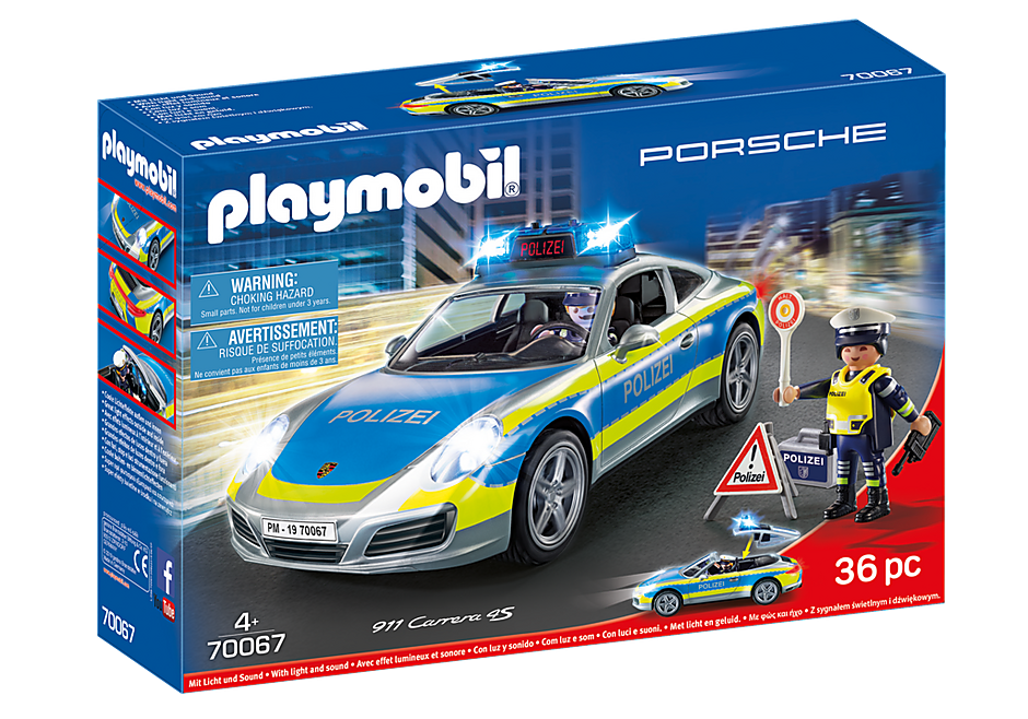 70067 Porsche 911 Carrera 4S Politie - grijs detail image 2