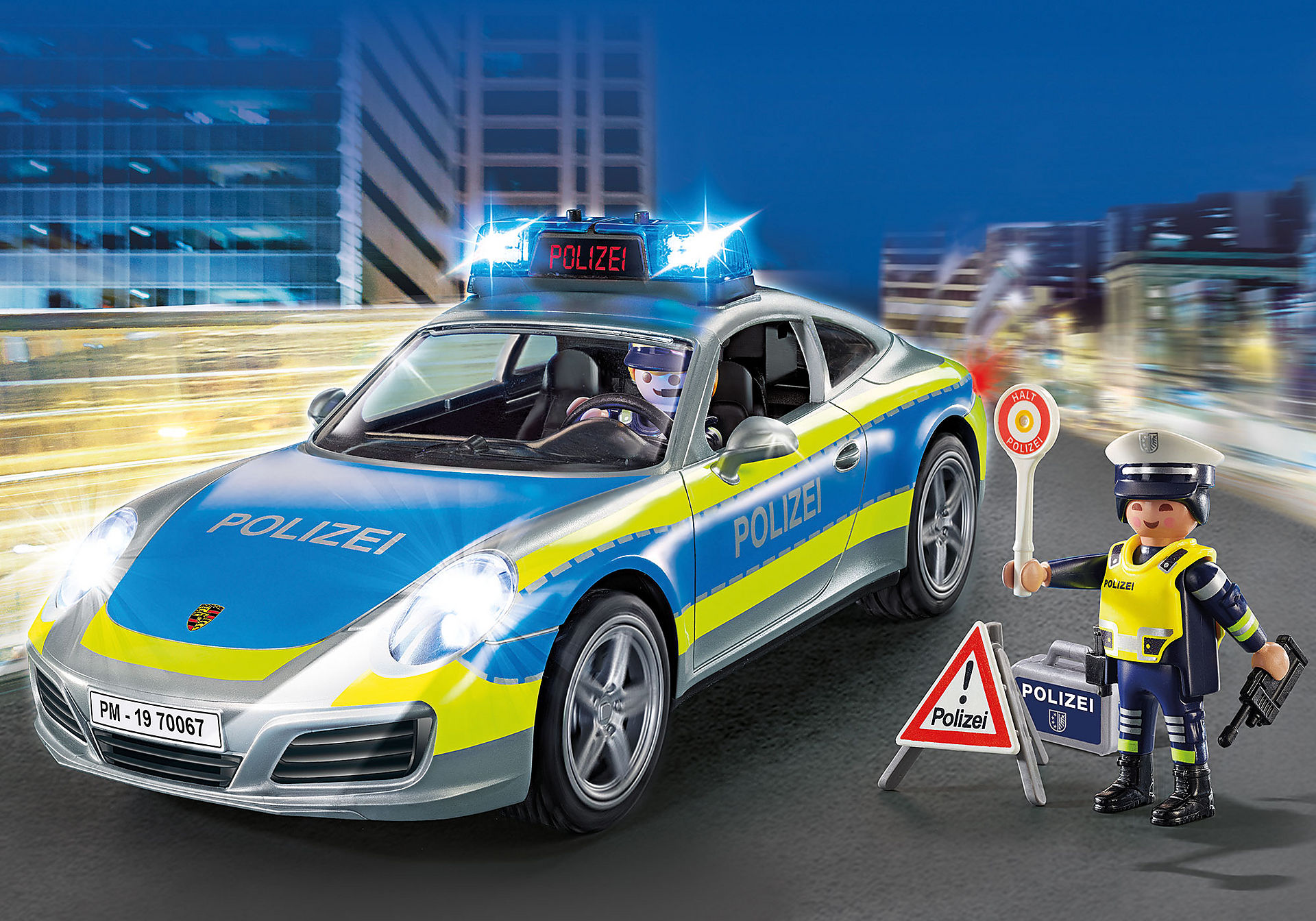 70067 Porsche 911 Carrera 4S Polis – Grå zoom image1