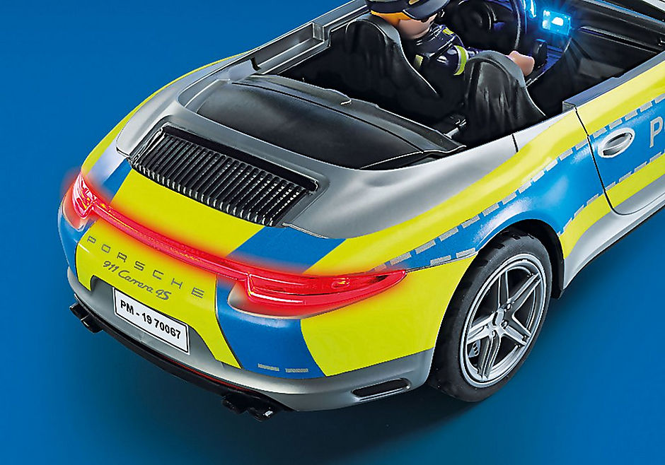 70067 Porsche 911 Carrera 4S Politi- Grå detail image 6