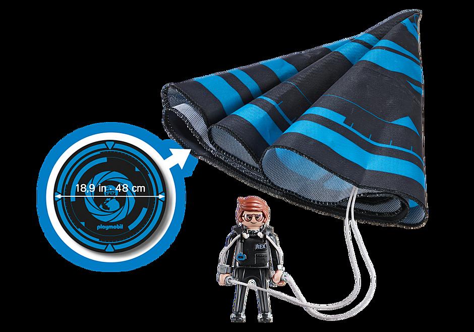 70070 PLAYMOBIL: THE MOVIE Rex Dasher avec parachute detail image 3